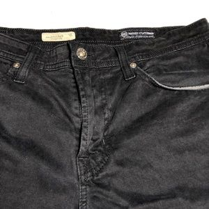 AG Adriano Goldschmied Black Straight Leg Jeans